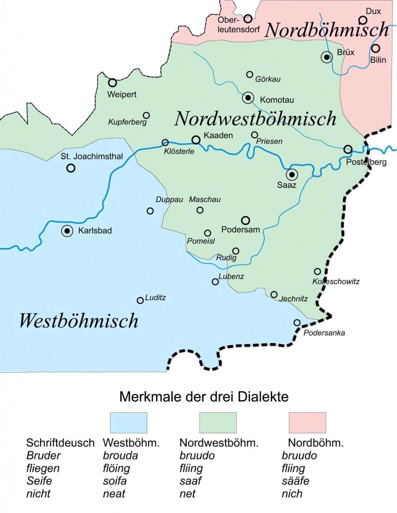 Alfred Klepsch, Saazer Dialektkarte
