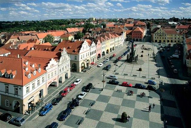 Saaz Marktplatz vom Rathausturm (CZTourist)