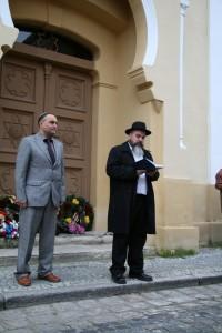 Oldřich Látal und der Kantor der jüdischen Gemeinde Pelc