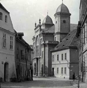 Die Saazer Synagoge vor 1945