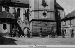Saaz, Ackermannplatz (vor 1945)