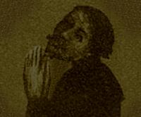Johannes von Saaz, Portrait des Dichters nach einem von ihm gestifteten Hieronymus-Offizium (Nationalmuseum Prag)