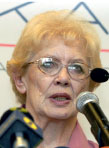 Anděla Dvořáková, předsedkyně Svazu bojiníků za svobodu