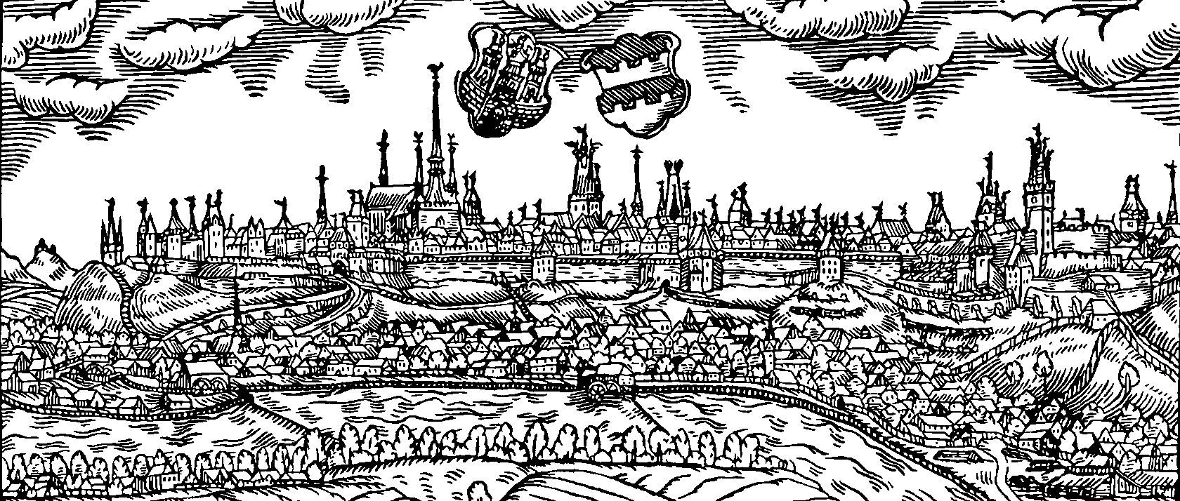 Saaz 1601, Holzschnitt von Johannes Willenberg